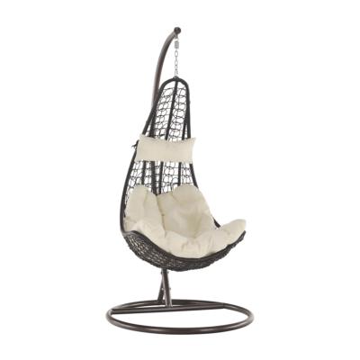 Függő fotel, barna / krém, KALEA 2 NEW