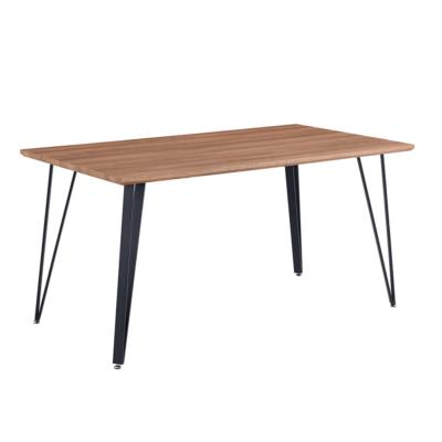 Étkezőasztal, 150 cm, tölgy/fekete, FRIADO