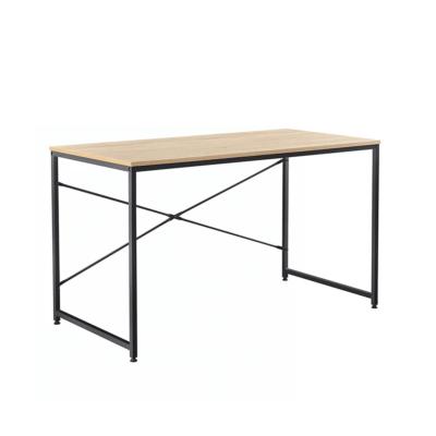 Íróasztal tölgy/fekete, 90x60 cm, MELLORA