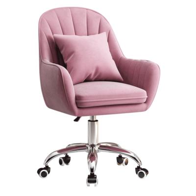 Irodai szék, rózsaszín Velvet szövet/króm, KLIAN