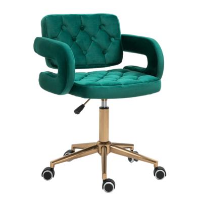 Irodai szék, Velvet szövet zöld/arany, NELIA