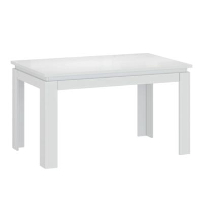 Széthúzható asztal, fehér fényes, LINDY