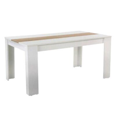 Étkezőasztal, fehér / tölgyfa sonoma, RADIM NEW