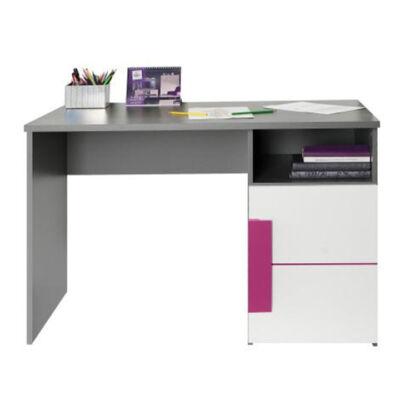 PC asztal, szürke/fehér/lila, LOBETE 21