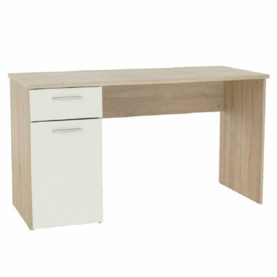 Számítógépasztal, sonoma tölgyfa/fehér, EGON