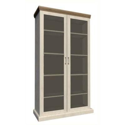 vitrines szekrény, északi sosna/vadtölgy, ROYAL WS