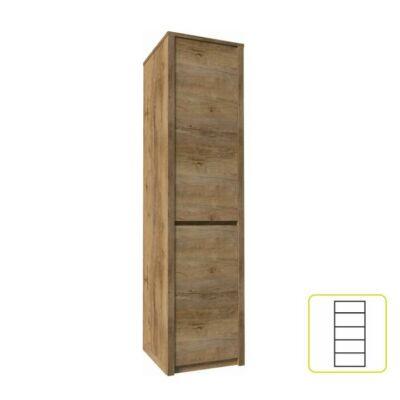 Egyajtós osztot szekrény, tölgyfa lefkas, MONTANA S1D