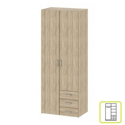 szekrény, 2 - ajtós, tölgy sonoma, GWEN 70425