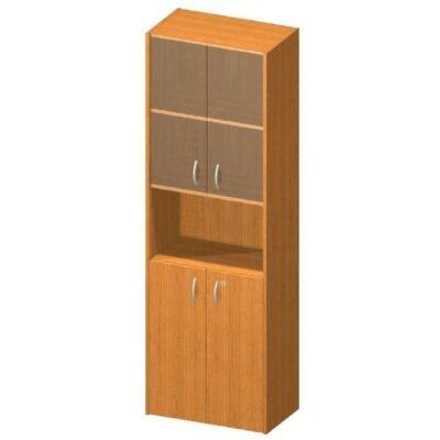 Vitrines polcos szekrény, cseresznye, TEMPO ASISTENT NEW 004
