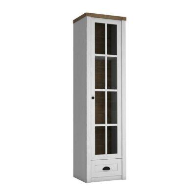 Vitrines szekrény, sosna Andersen/tölgy lefkas, PROVANCE W1S