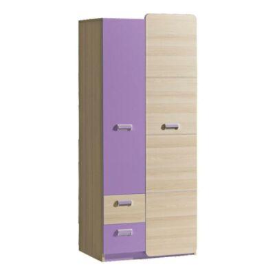 Akasztós szekrény, kőrisfa/ibolyakék, EGO L1