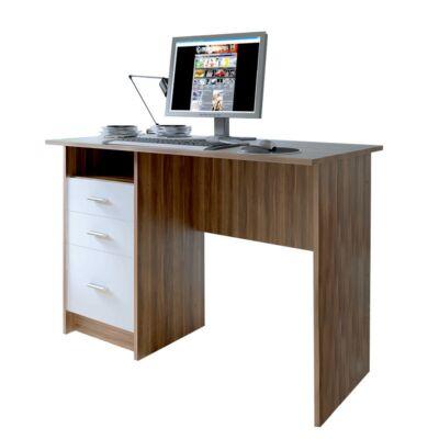 PC asztal, tölgy szilva/fehér, SAMSON NEW