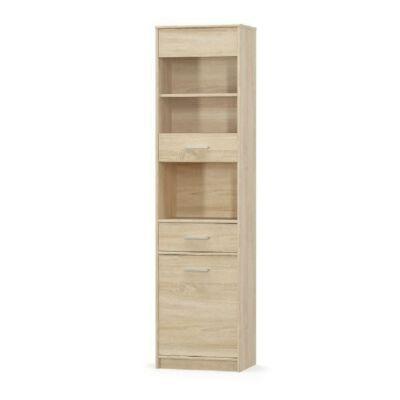 Vitrines szekrény 1D1W1S, sonoma tölgyfa, TEYO