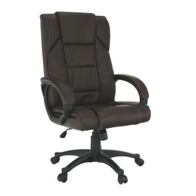 Irodai fotel, barna  ökobőr, SIEMO NEW