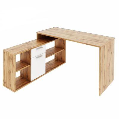 PC asztal,  tölgy wotan/fehér, NOE NEW
