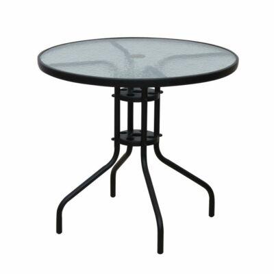 Étkezőasztal, fekete acél/edzett üveg, BORGEN TYP 2