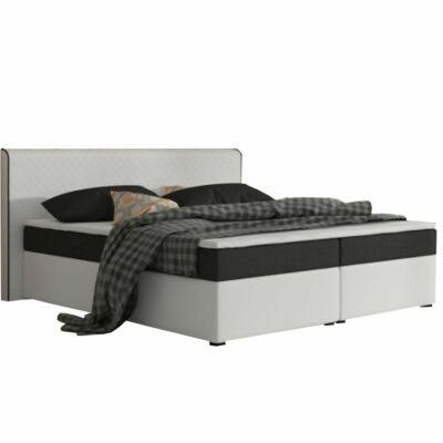 Kényelmes ágy, fekete szövet/fehér textilbőr, 180x200, NOVARA KOMFORT