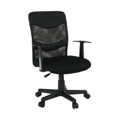 Irodai szék, szitaszövet fekete/műanyag , OBALA