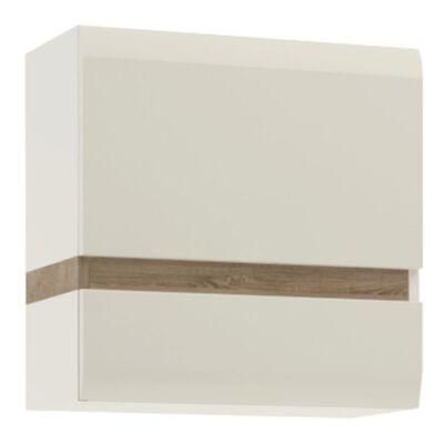 Fali szekrény, fehér extra magas fényű HG/trufla sonoma tölgy, LYNATET 66