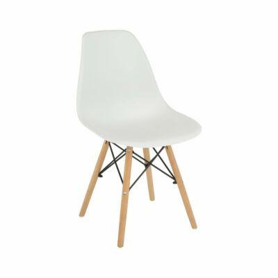 Modern szék, bükk+ fehér, CINKLA 3 NEW