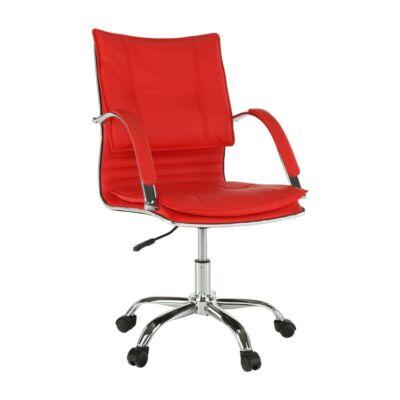 Irodai szék, textilbőr piros, QUIRIN NEW
