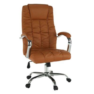 Irodai szék, barna textilbőr/króm, SORIA
