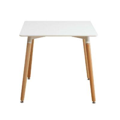 Étkezőasztal, fehér/bükk, DIDIER  2 NEW