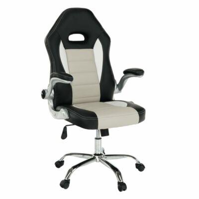Irodai szék, fekete textilbőr/piros textilbőr, MARVIN