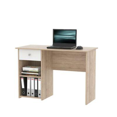 PC asztal, tölgy sonoma/fehér, KARLIS