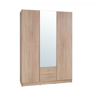 3-ajtós szekrény, tölgy sonoma, MEXIM