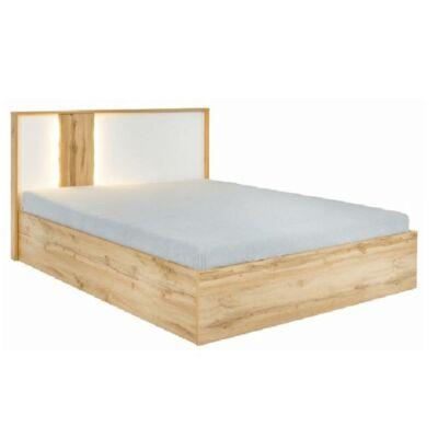 Ágy rakodótérrel, tölgy wotan/fehér, 160x200, VODENA