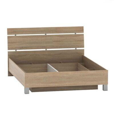Ágy ágyneműtartóval, tölgy sonoma, 160x200, LUNA