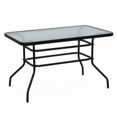Kerti étkezőasztal, szín: fekete, DEMAT MEW
