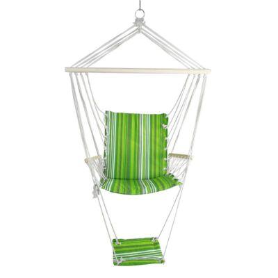 Függő szék, zöld/fehér, JAMBI