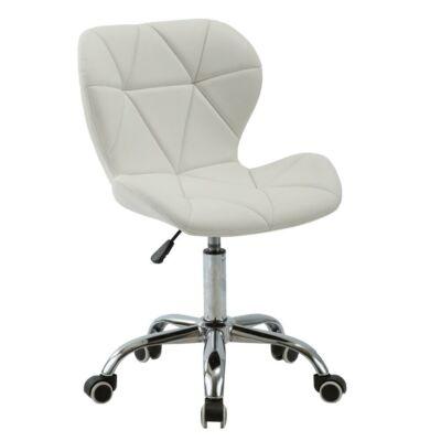 Irodai fotel, fehér/króm, ARGUS
