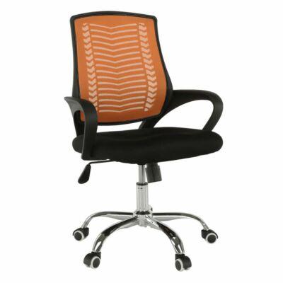 Irodai szék, narancssárga/fekete/króm, IMELA TYP 2