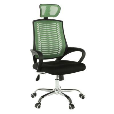 Irodai szék, zöld/ fekete/króm, IMELA TYP 1