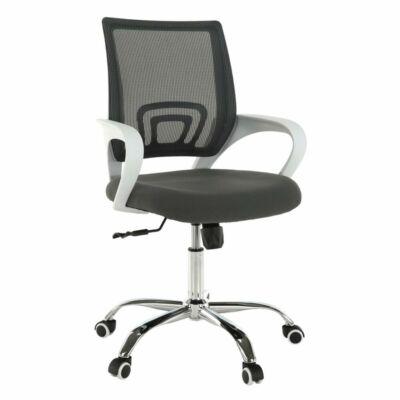 Irodai szék, szürke/fehér, SANAZ TYP 2