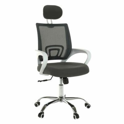 Irodai szék, szürke/fehér, SANAZ TYP 1