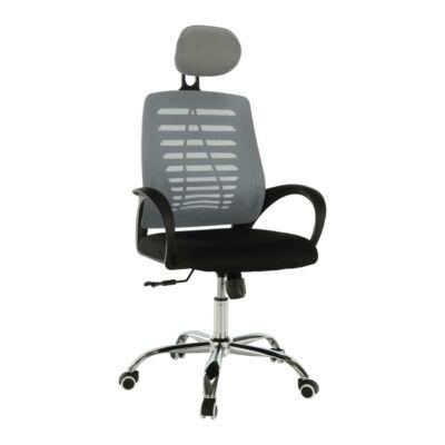 Irodai szék, szürke/fekete, ELMAS