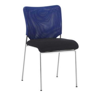Irodai szék, kék/fekete/króm, ALTAN