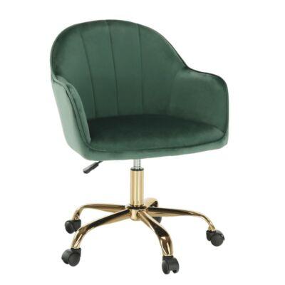 irodai szék, zöld Velvet szövet/arany, EROL