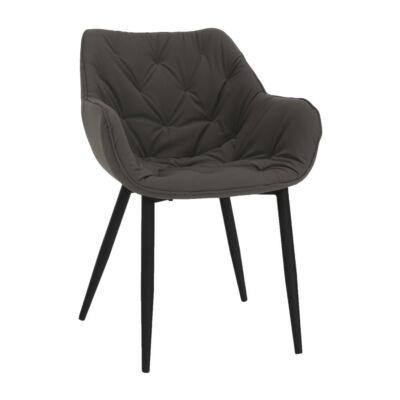 Dizájnos fotel, szürke anyag, FEDRIS