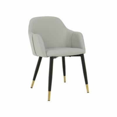Fotel, szürke/fekete/arany, KARAT