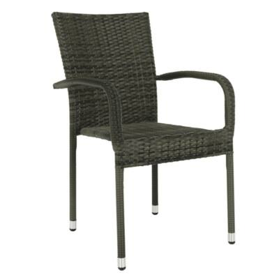Kerti szék, szürke, VIPANA