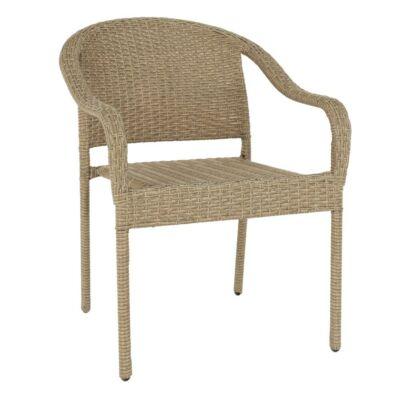 Kerti szék, barna, BINGA