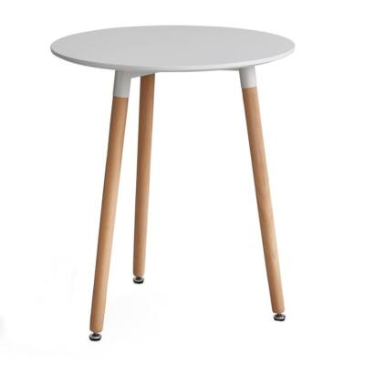 Étkezőasztal, fehér/bükk, ELCAN 60