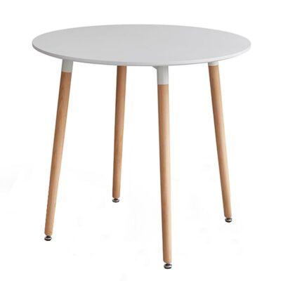 Étkezőasztal, fehér/bükk, ELCAN 80