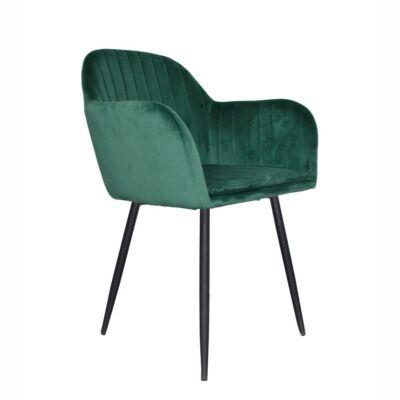 Dizájnos fotel, smaragd Velvet anyag, ZIRKON