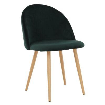 Étkező szék, szmaragd, FLUFFY